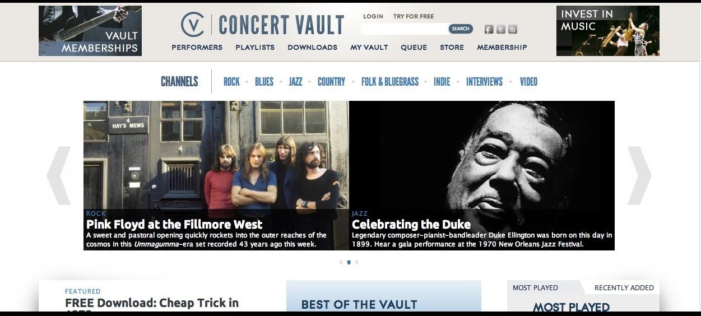 Concert Vault - Live Concert Recordings Streamed Online - wolfgangsvault.com