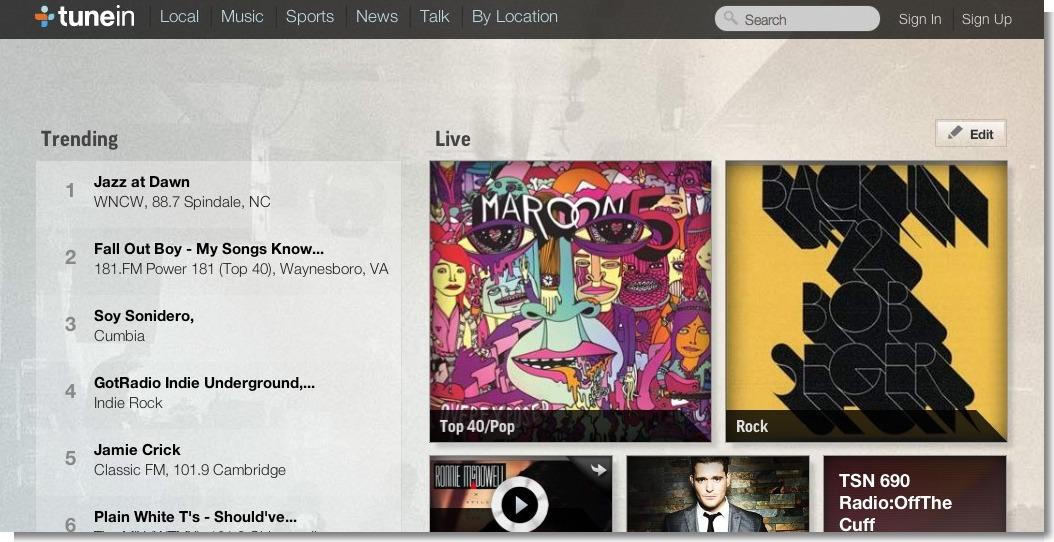 TuneIn  Listen to Online Radio, Music and Talk Stations