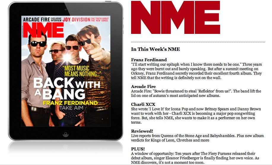 Get NME magazine in digital and print - UK - NME.COM