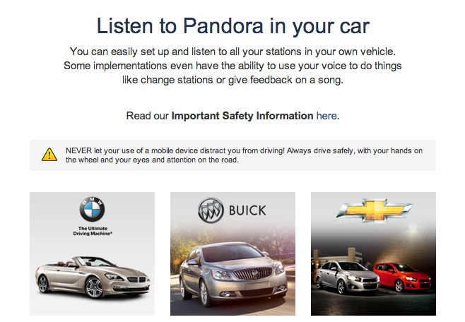 Listen to free music in your car with Pandora Internet Radio