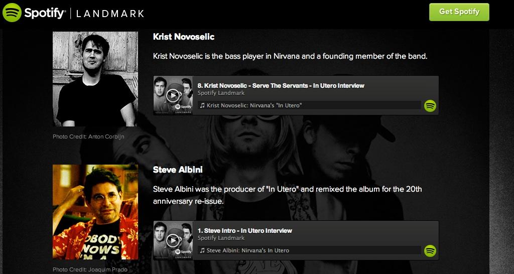 Spotify Landmark  Nirvana's  In Utero
