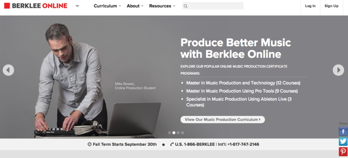 Online Courses and Programs in Music Production, Guitar, Songwriting, Music Business,   Music Theory - Berklee Online