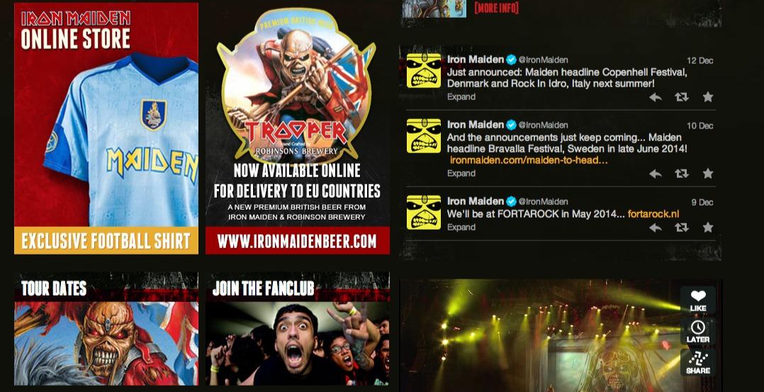 Iron Maiden Official Website