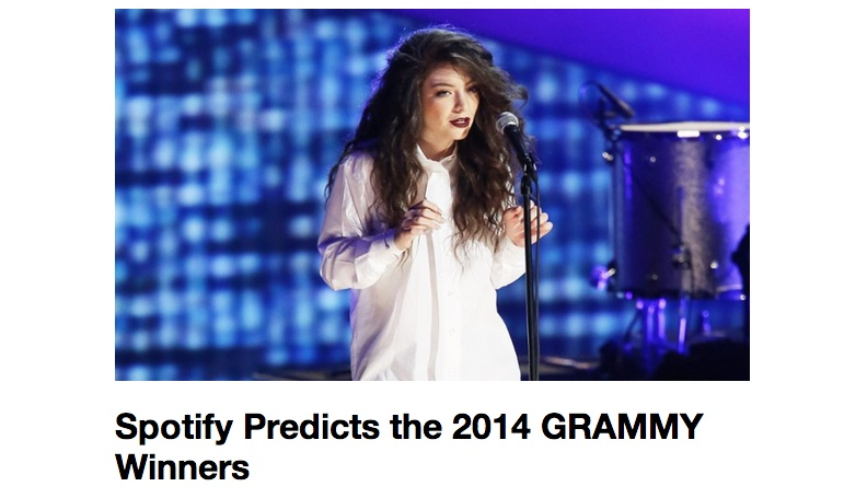 grammy spotify 2014
