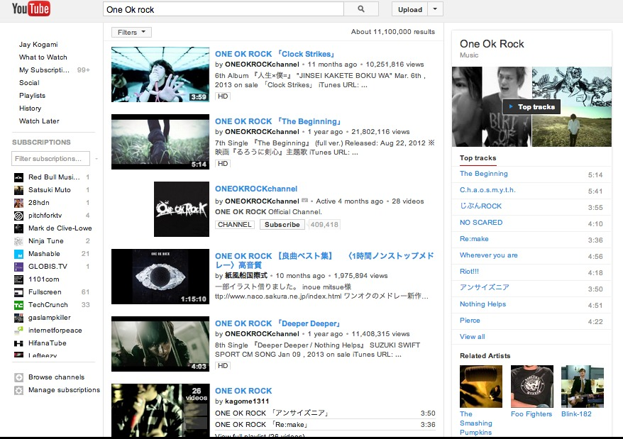 One Ok rock - YouTube