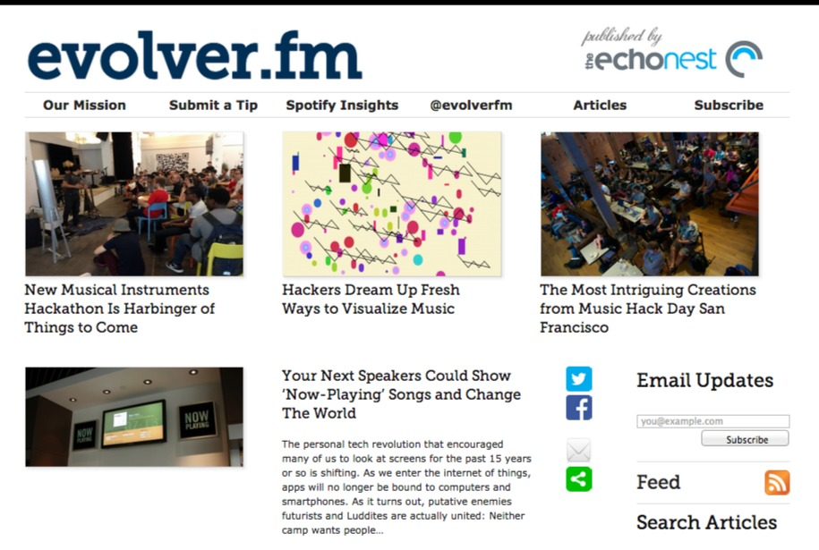 Evolver.fm   Evolving music past the Play button