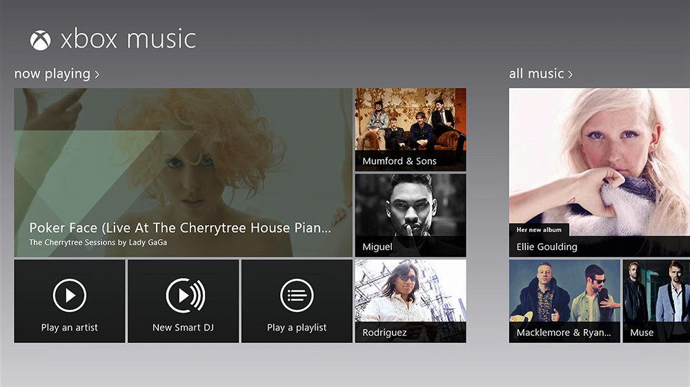 Xbox Music Windows 8 launch october 14 2012