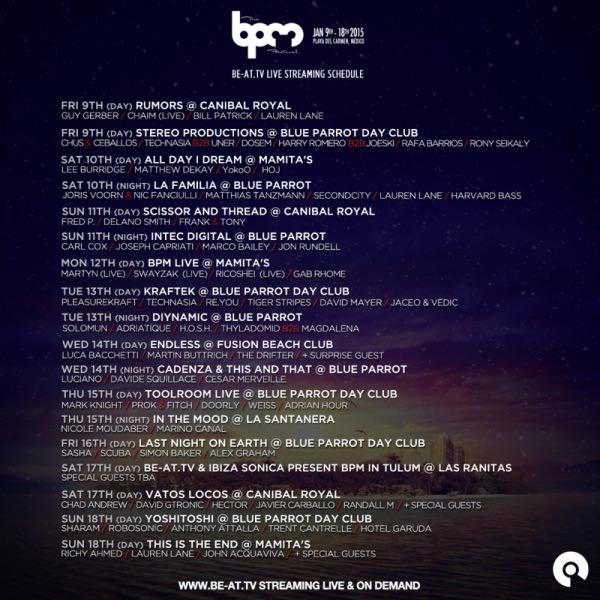 BPM-Stream-schedule