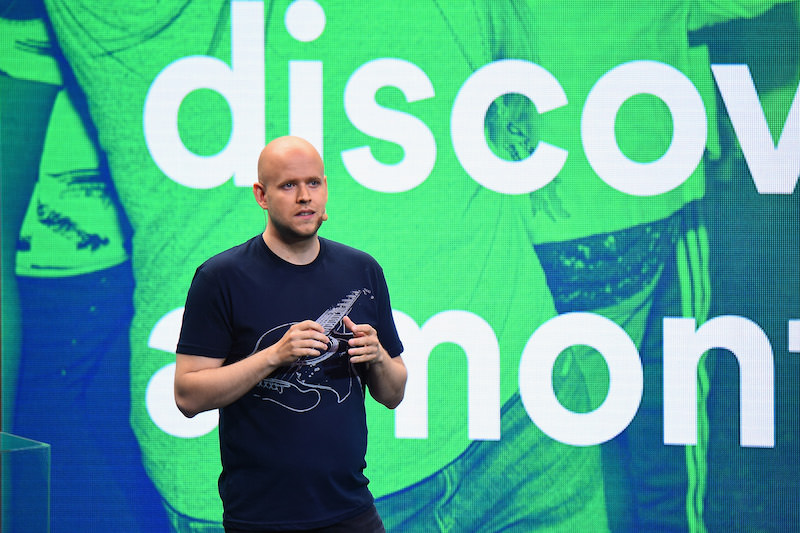 NEW YORK, NY - MAY 20:  Daniel Ek, Founder and CEO, Spotify speaks onstage at Spotify Press Announcement on May 20, 2015 in New York City.  (Photo by Michael Loccisano/Getty Images for Spotify) *** Local Caption *** Daniel Ek