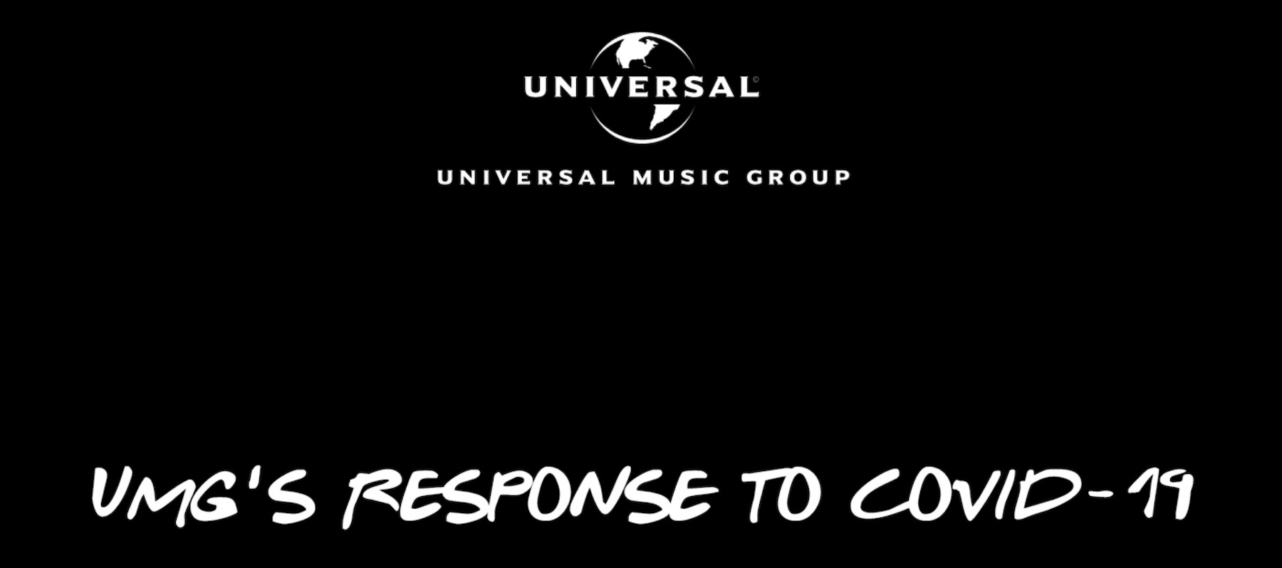 Universal Music Group COVID-19 initiatives